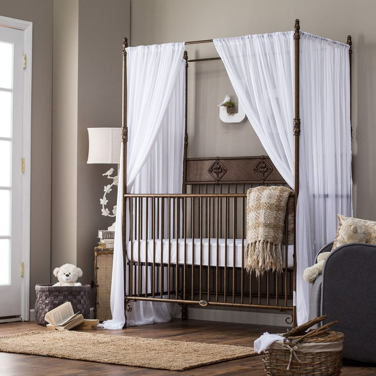 Cute Nursery Bedroom Witching Iron Canopy Baby Cribs Photos 21