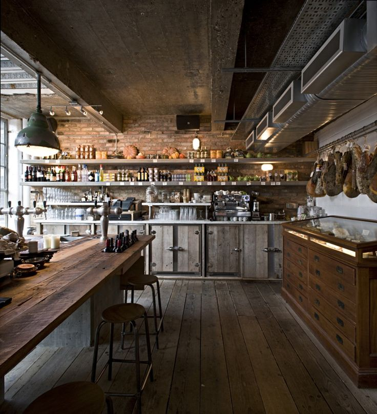Fantastic rustic kitchen designs, industrial, brick, wood, metal element photos 21
