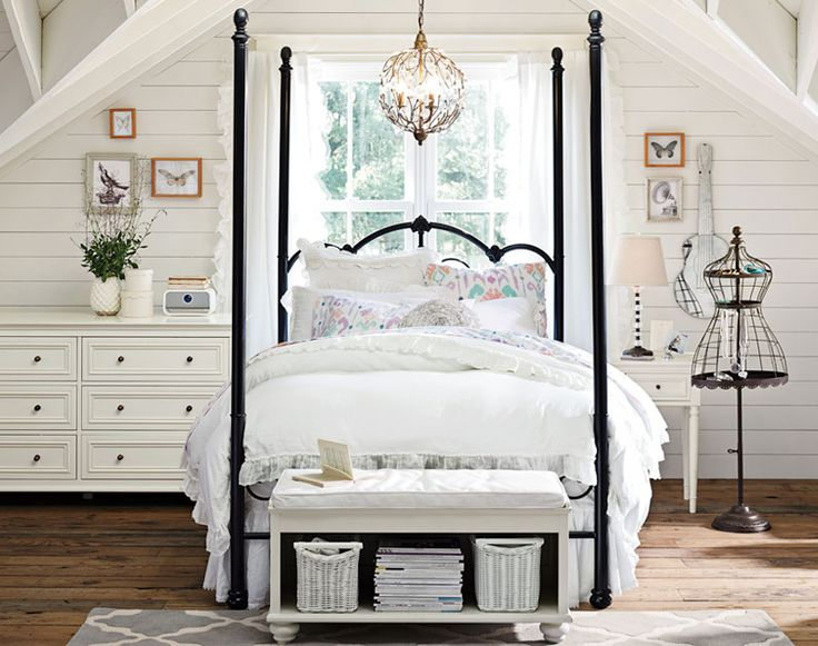 Four-Poster Canopy Bed Iron Canopy Beds for Teenage Girl Bedroom Ideas