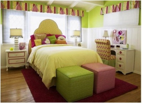 Green fresh color ideas for tween bedroom images