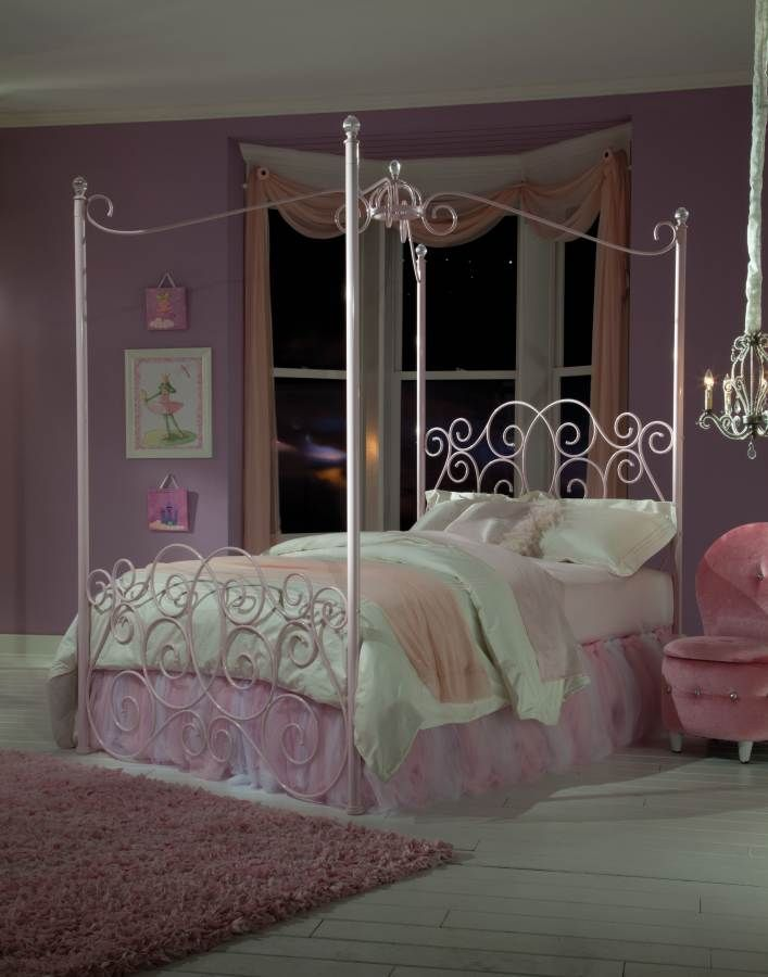 Iron Canopy Beds for Girls Canopy Beds Pink Metal Twin Bed Princess Bedroom Photos 23