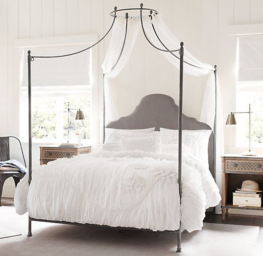 Lovely  Allegra Iron Canopy Bed for Great Bedroom Pictures 09