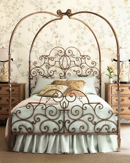 Luxury iron canopy beds for beautiful bedroom pictures 014
