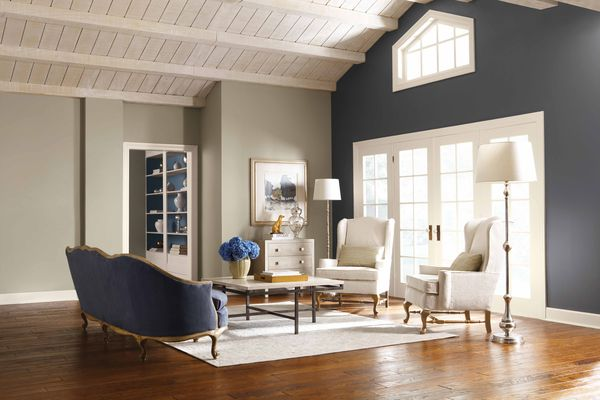 Simple Living Room Paint Color Ideas very Soft Grey Color for Refreshing Room Images 016