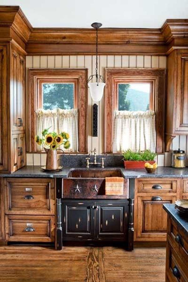 Small rustic kitchen cabinet love the cabinets on the side of the sink img011