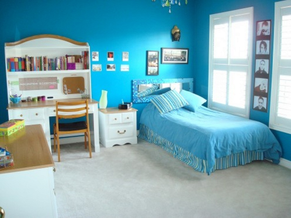 Simple blue bedroom ideas for teens img015 - Home Interior Design Ideas