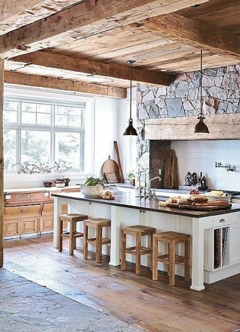 modern rustic kitchen design ideas pictures 06
