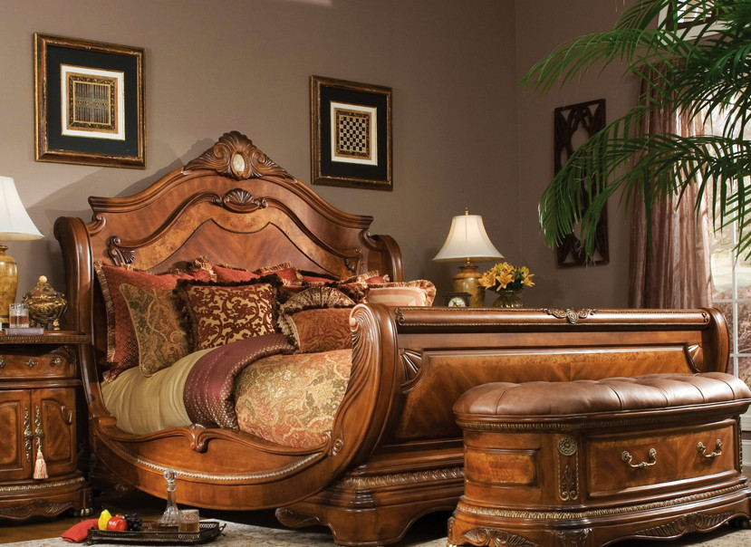 Aico Furniture Bedroom Furniture Set This Cortina Sleigh Gondola Bed Is A  Stunning Example Of How Classic Sleigh Bed Design