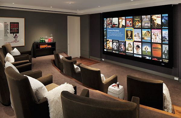 amazing home theater furniture seating cinema-like media room with