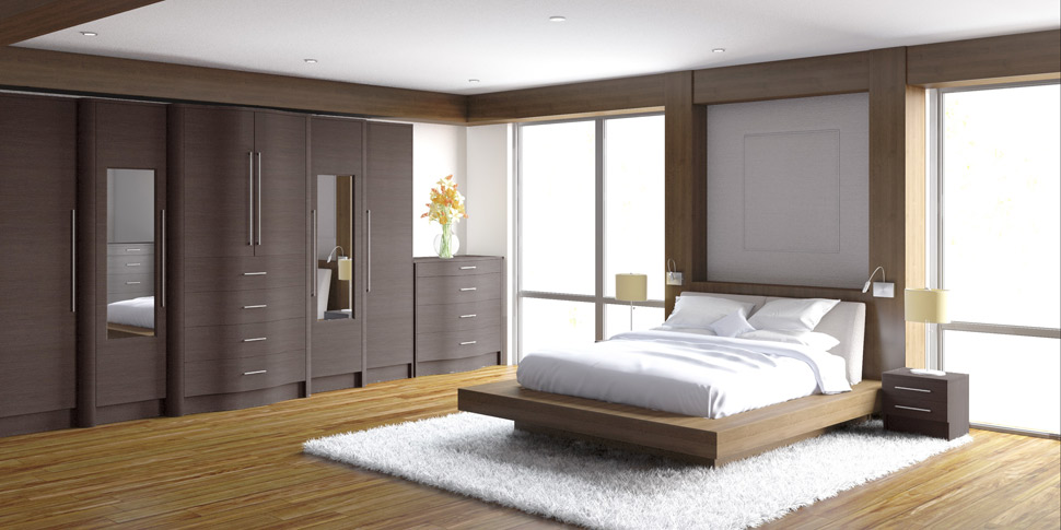 High gloss fitted bedroom furniture cream made to measure for Fitted bedroom furniture