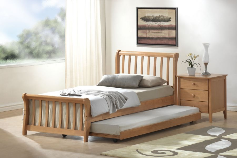 Attractive Single Bed With Trundle Pic 1