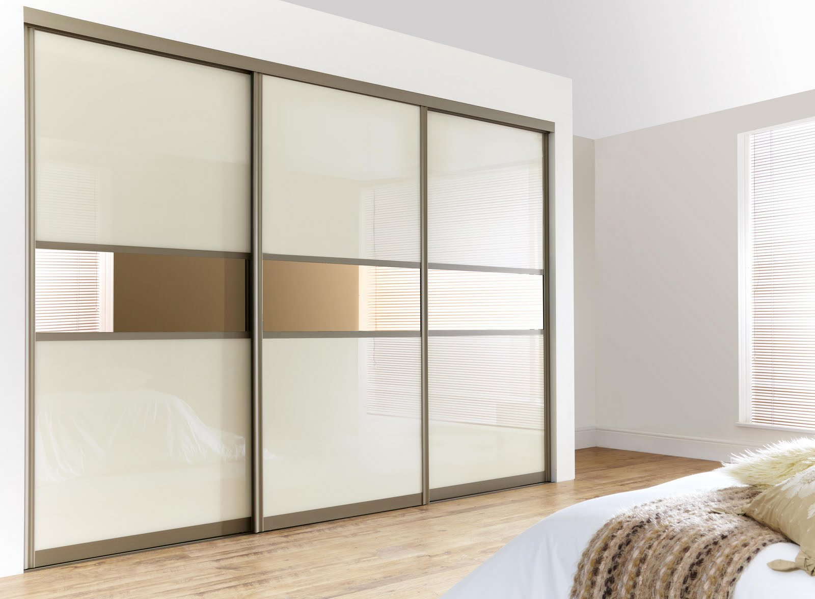 Bedroom Sliding Wardrobe Doors And Mirror