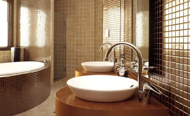 Beige Toilets And Sinks Ideas Decorate Your Bathroom With Double Sinks Vanity Bnathroom Design Pic3