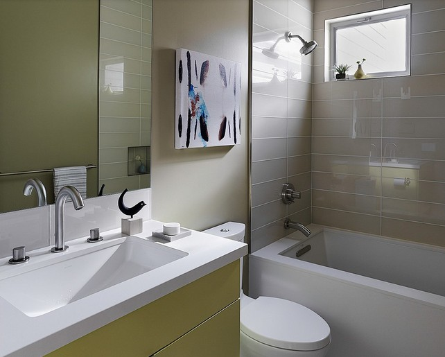 Fabulous beige toilet and sinks ideas modern double sink - Black and beige bathroom ...