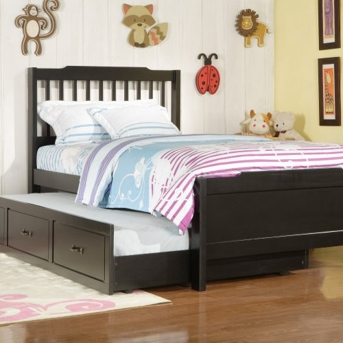 Black Twin Bed With Trundle Pic 2
