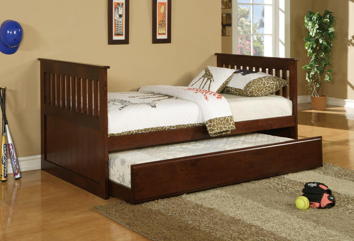 Cappuccino Trundle Bed Mattress Pic 4