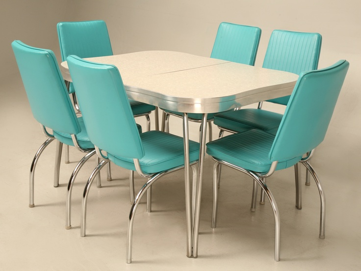 Dining Room Chairs Vinyl And Formica Retro Dinette Set, Chrome, And Brushed  Aluminium Images ...