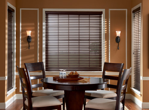 Faux Wood Blinds In Dining Room Pictures