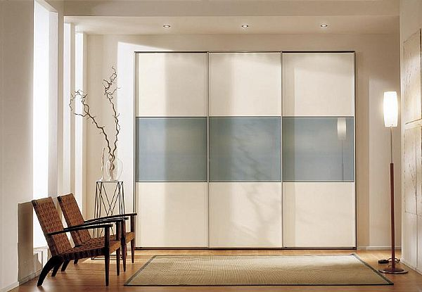 Sliding wardrobe doors and their benefits for your home for Back painted glass designs for wardrobe