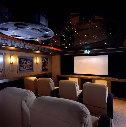 Gorgeous Home Theater Furniture Seating Cool Media Room For Modern House