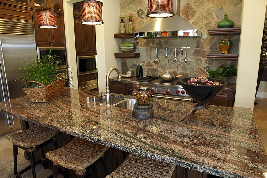 Granite Kitchen Countertops With Great Color Pic6