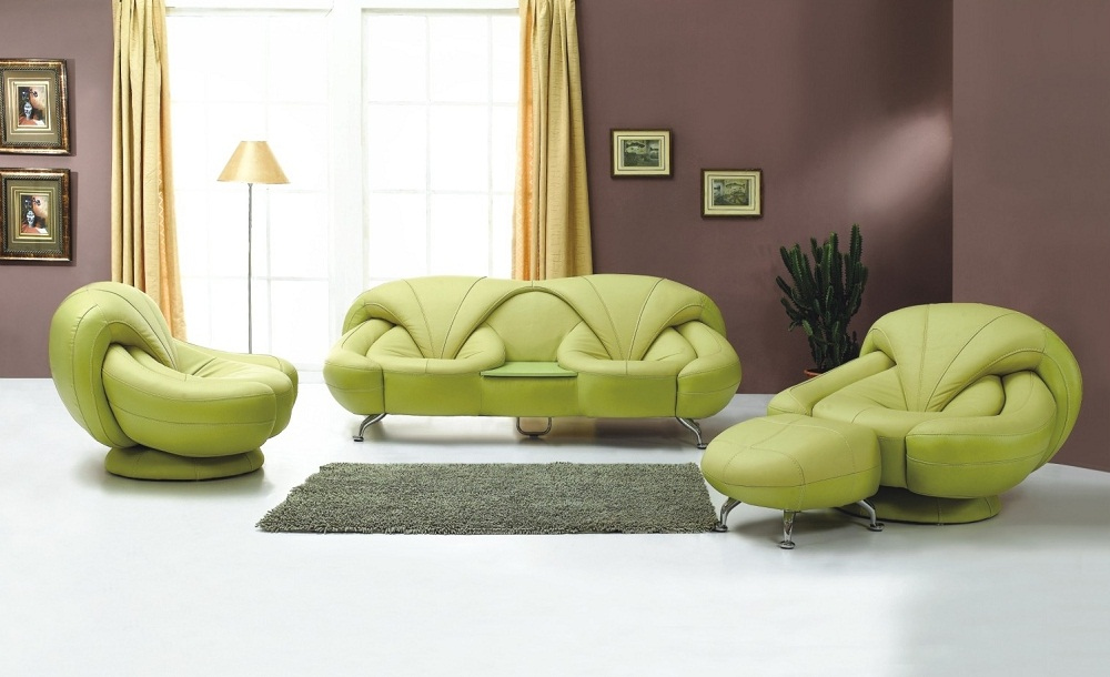 Green Leather Living Room Couch Ideas