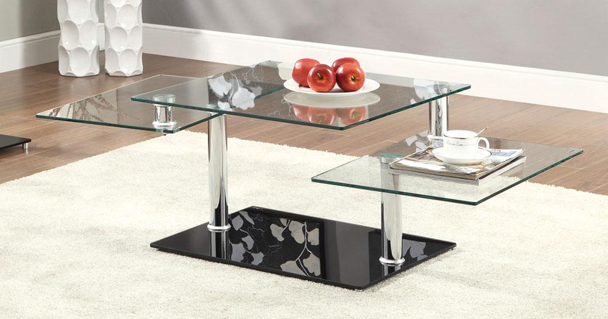 Contemporary glass top coffee tables home interior for High end glass coffee tables