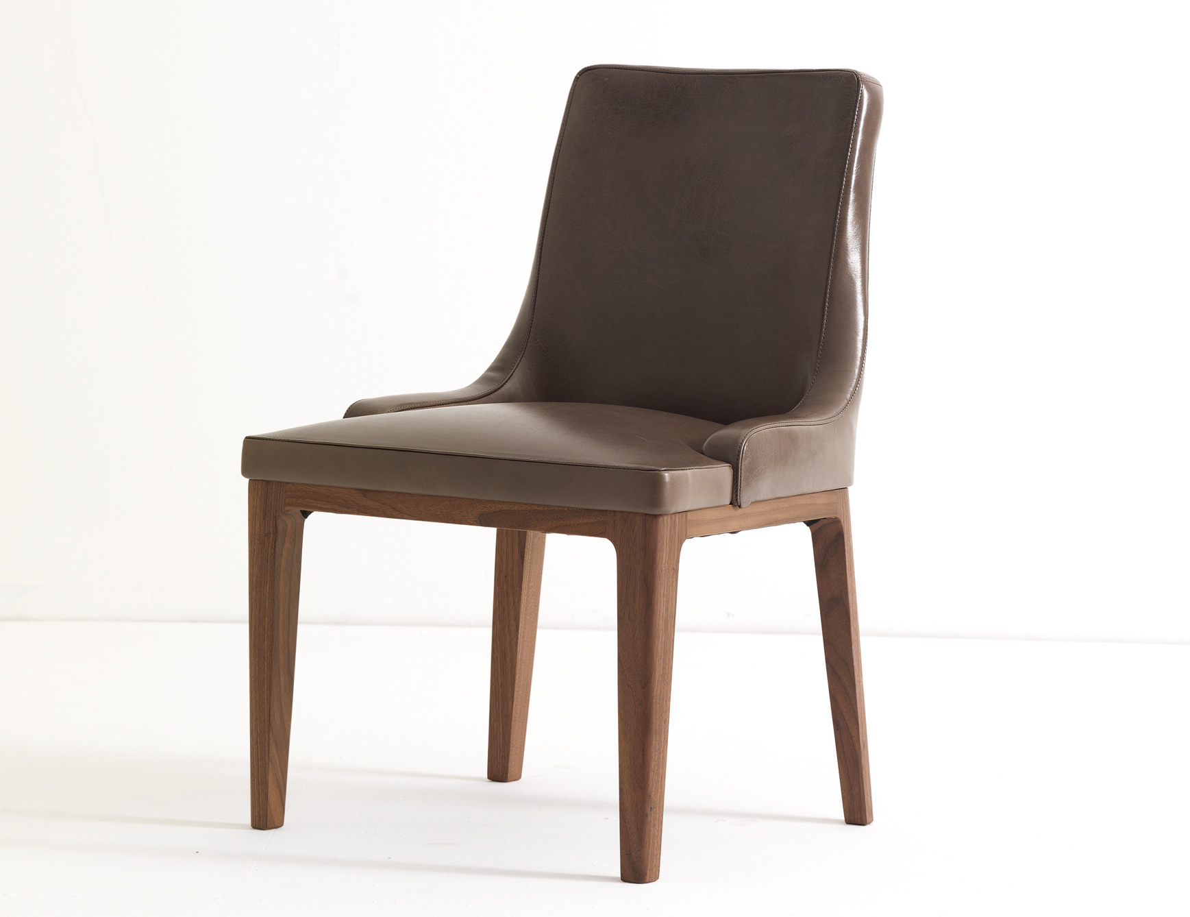 High Quality Brown Leather Dining Chairs