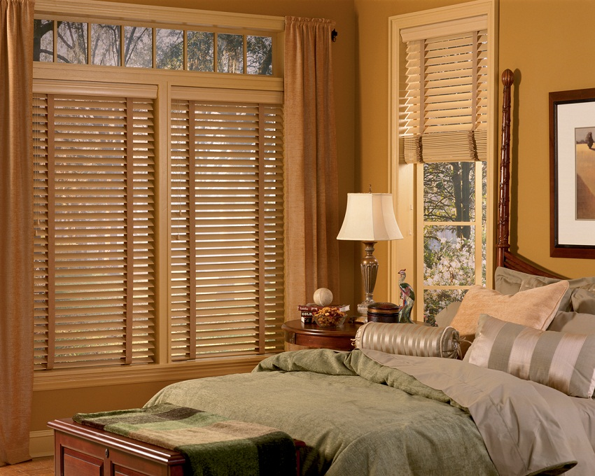 Hunter Douglas Faux Wood Blinds For Bedroom Style Photos