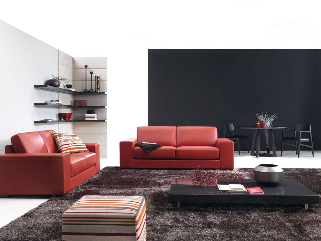 Living Room Couches Ideas With Red Sofa