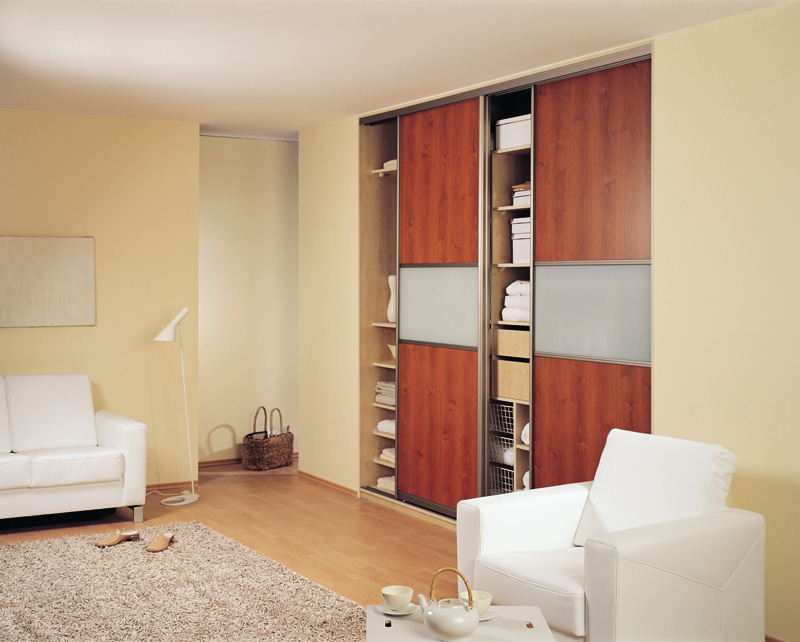 Living Room Sliding Door Closet