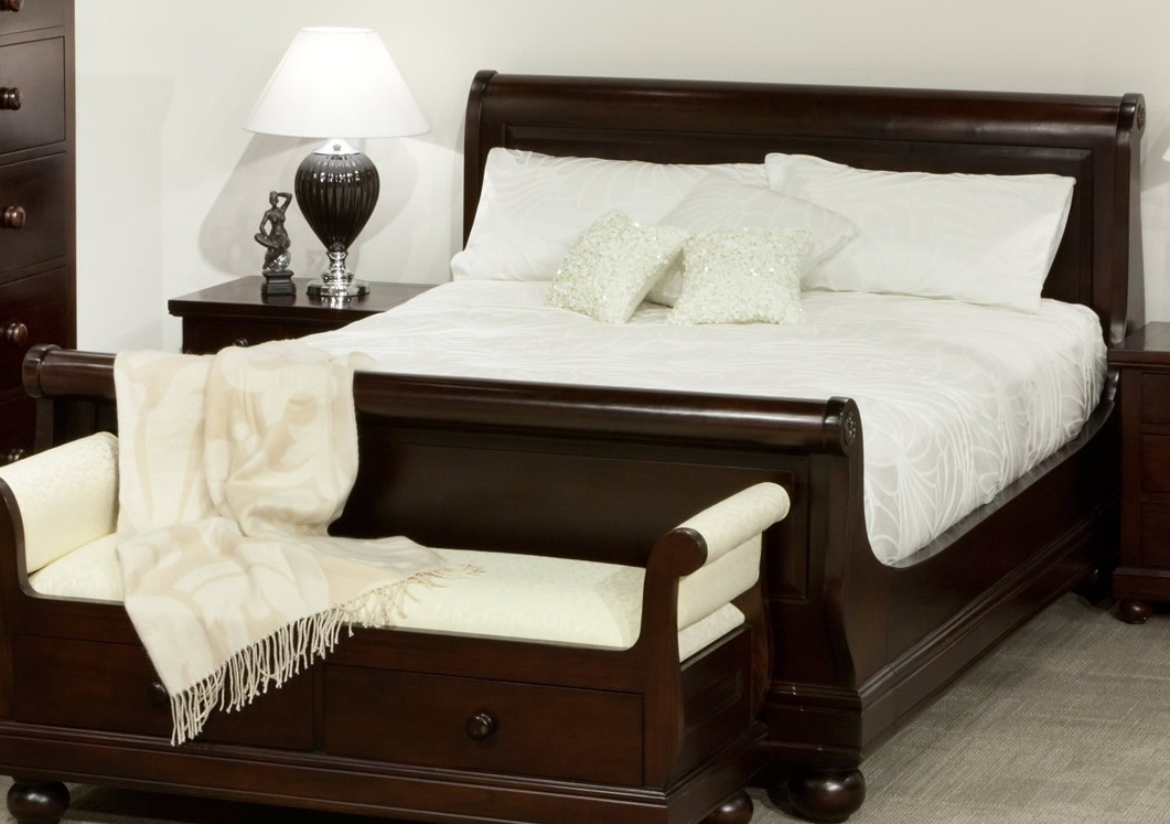 Sleigh Beds Furniture American Made Manufacturer Home Interior Design Ideas