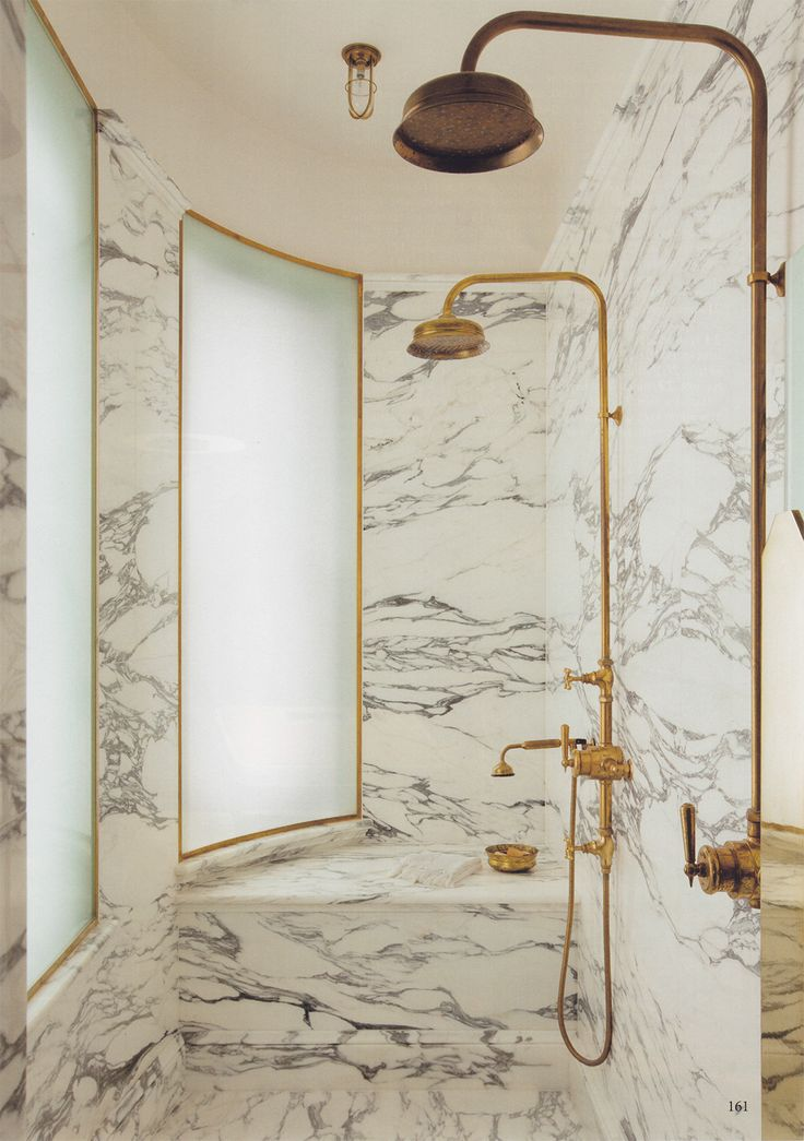 ... Bathroom Light Fixtures Marble And Gold Shower Fixtures All Custom Cut  Marble Includes Bench ...