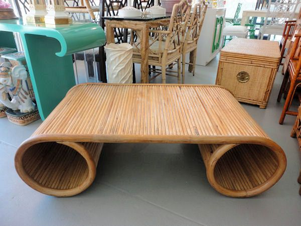 Rattan Scroll Coffee Table Pictures3