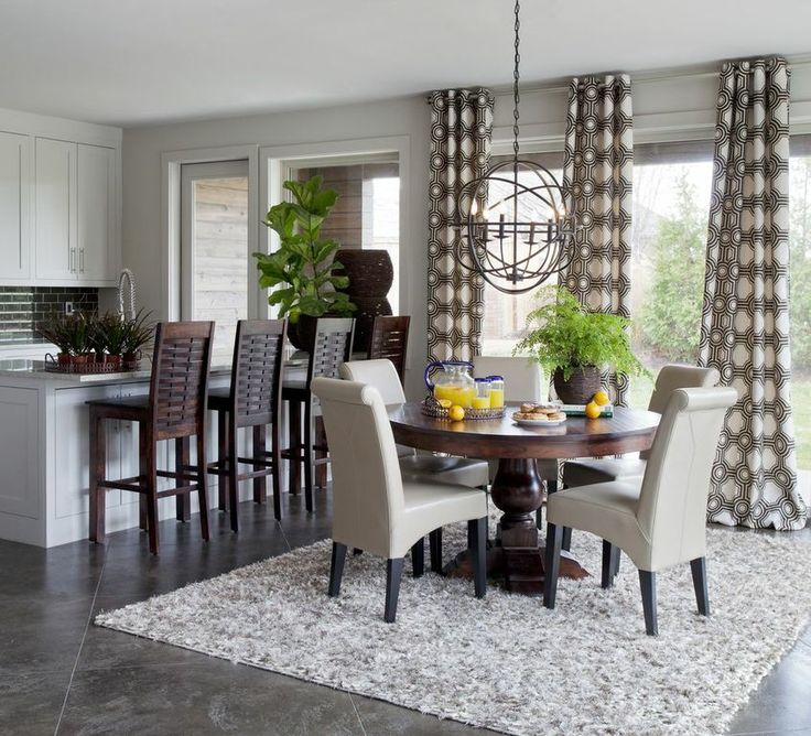 Round Dining Table With Square Rug Pic6