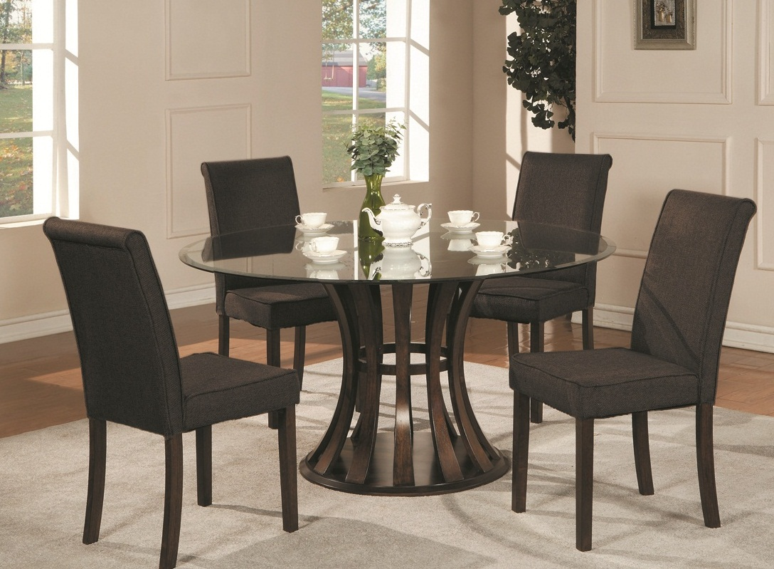 Round Glass Top Dining Room Tables Pic5