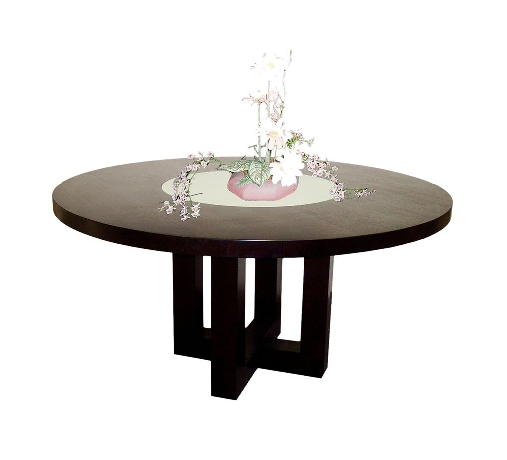 Round Glass Top Dining Table Pic4