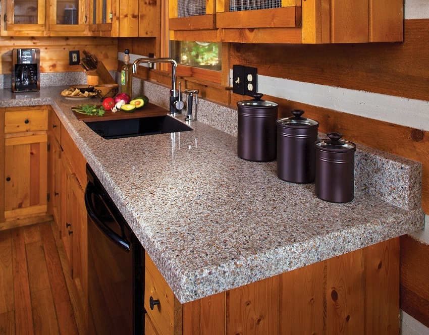 Rustic Kitchen With Granite Countertop Images18