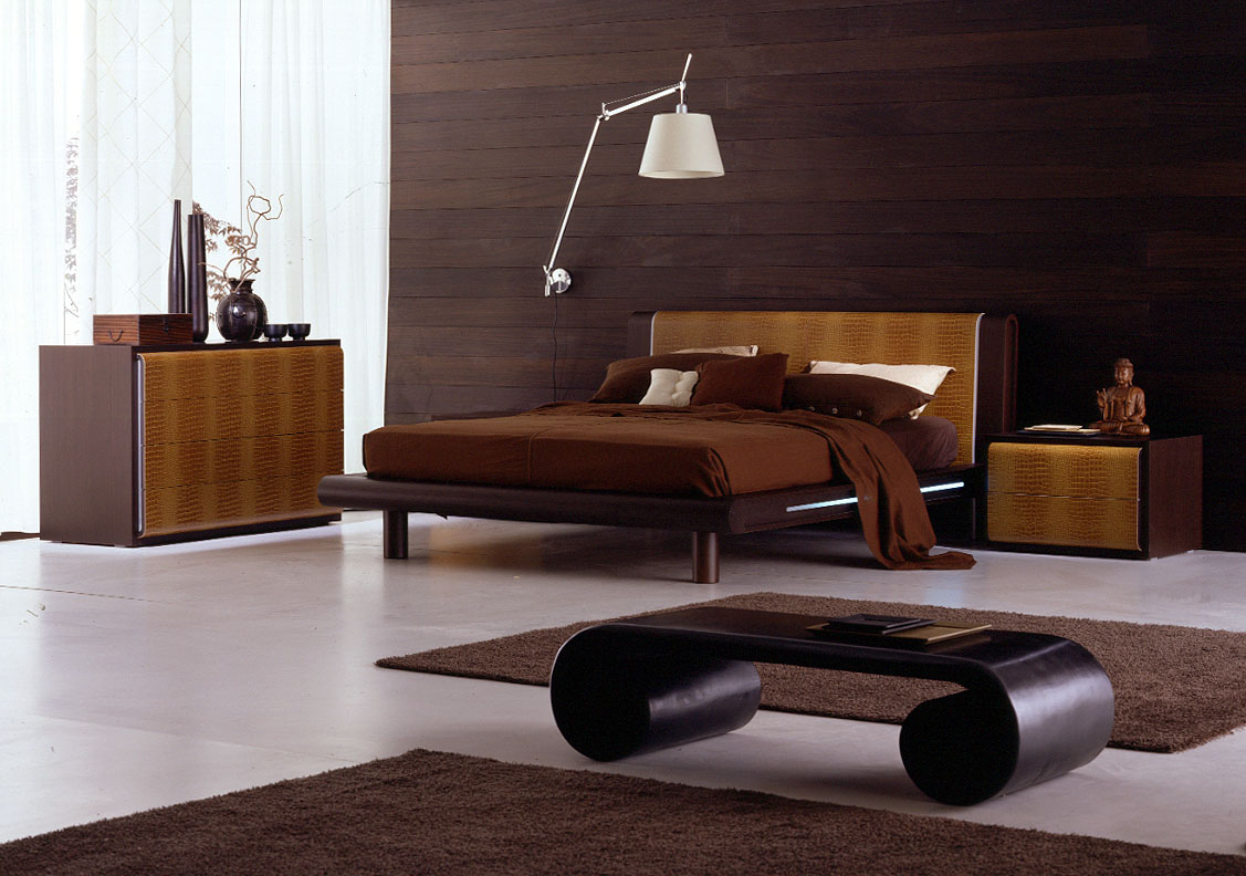 Scroll Coffee Table On Minimalist Bedroom Design With Contemporary Furniture Ideas