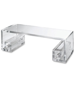 Scroll Coffee Table With An Angular Greek Key Shape In Clear Acrylic, The Scroll Table Pictures08