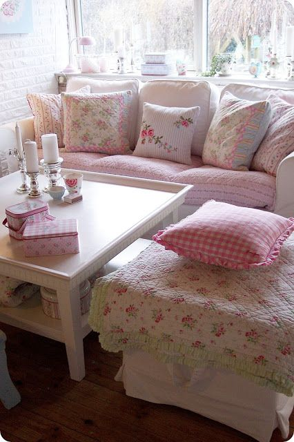 Shabby Chic Sofa Vintage Style Home Decor