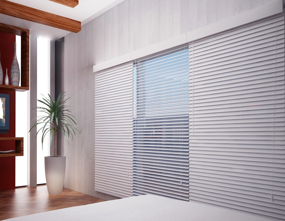 Simple Faux Wood Blinds For Large Space Pictures