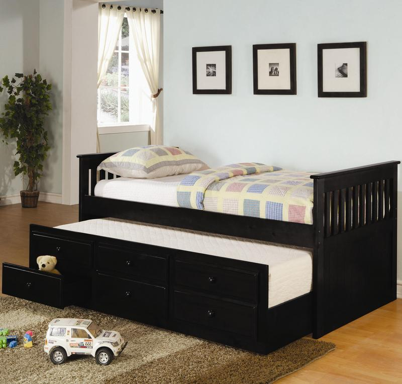 Trundle Bed Mattress With Storage Drawers Pictures 15