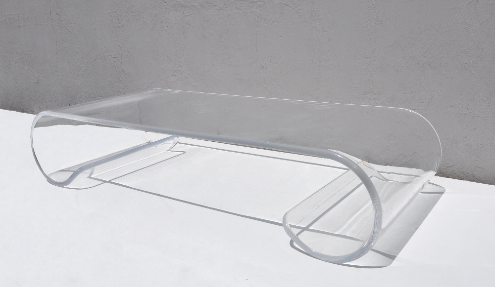 Vintage Lucite Scroll Coffee Table Images11