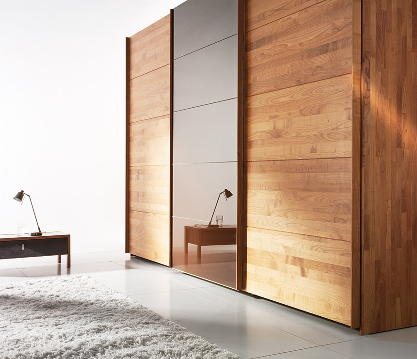 Wooden sliding door wardrobes valore home interior for Wooden sliding doors