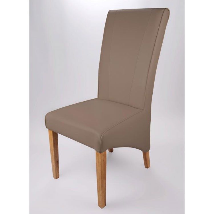 grey leather dining chairs pic