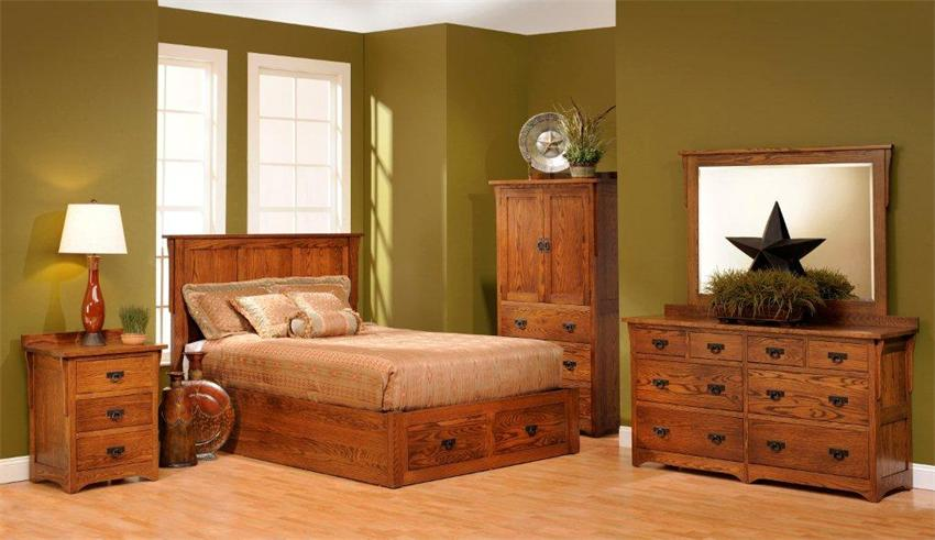 Solid Wood Bedroom Furniture Dark Color - Home Interior Design Ideas