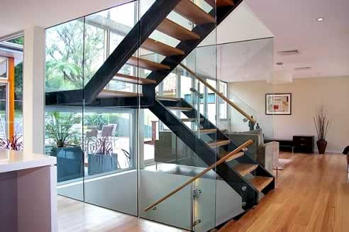 Black Switchback Stairs With Floating