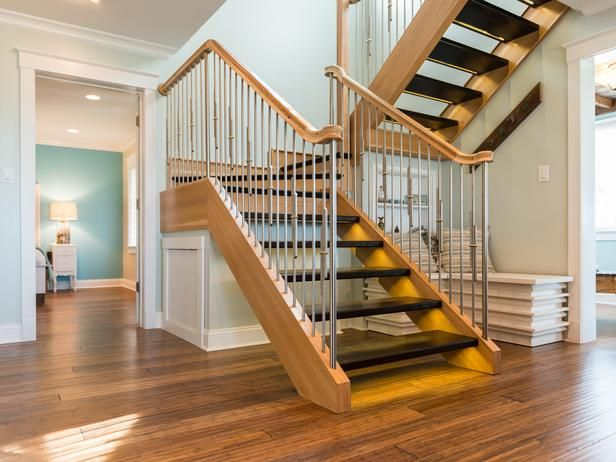 Diy Switchback Stairs From Oak And Hickory