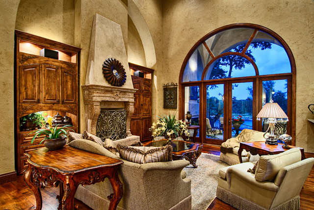 Gorgeous tuscan living room interior design home for Room interior images